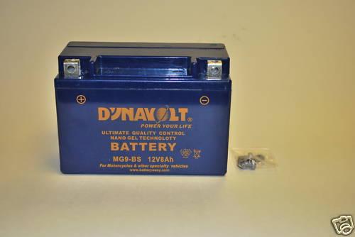 MG9BS Dynavolt Gel Battery Bandit ZX9R CBR ZXRGSXR RF