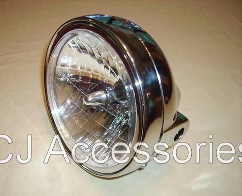 "Universal 7"" Chrome Headlight Unit"