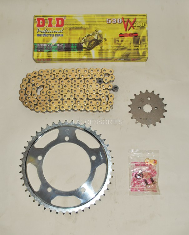 DID Gold X-Ring Chain And JT Sprockets For Suzuki GSX1250 FA GSF1250 Bandit 10-16