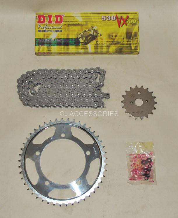 DID Grey X-Ring Chain And JT Sprockets For Suzuki GSX1250 FA GSF1250 Bandit 10-16