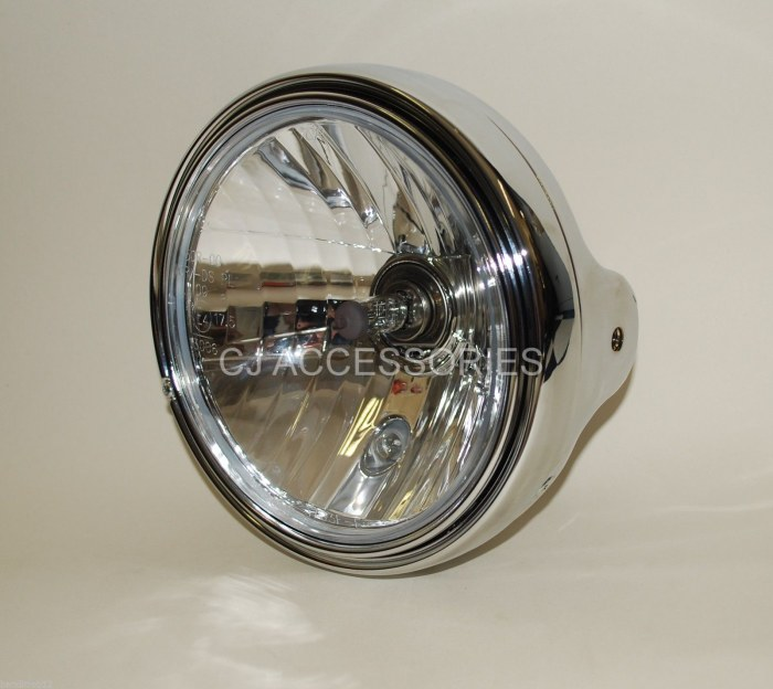 "Metal Chrome Universal 7"" Round Headlight  ideal for Bandit 223-127"