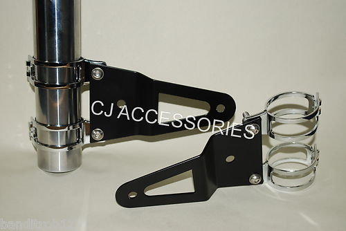 Black Fork Mounted Headlight Brackets
