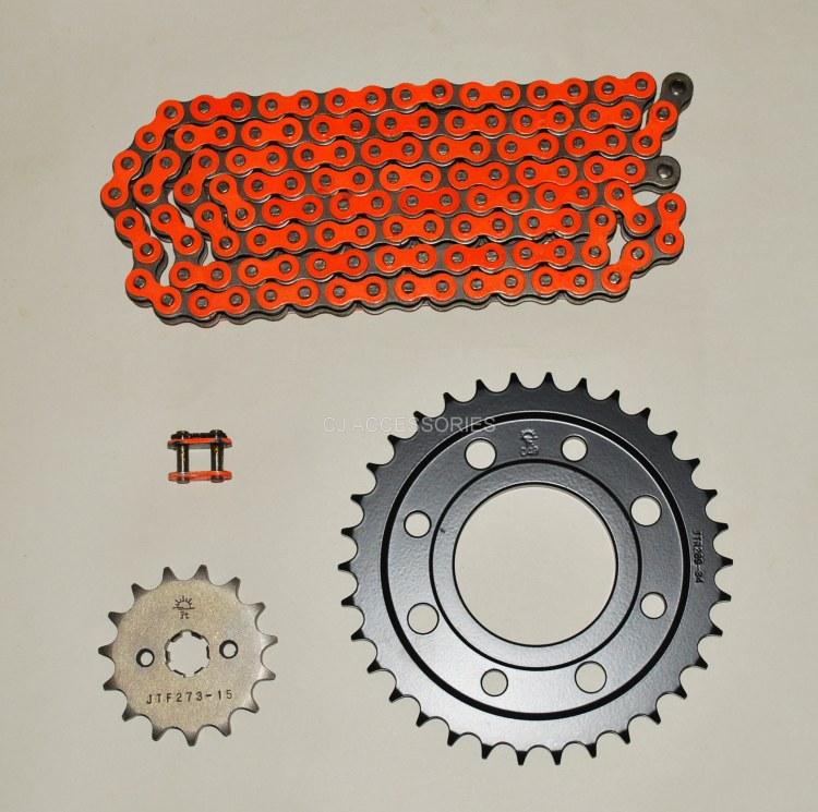 RK Orange Heavy Duty 428 Drive Chain & JT Sprocket Upgrade Kit Honda MSX125 Grom