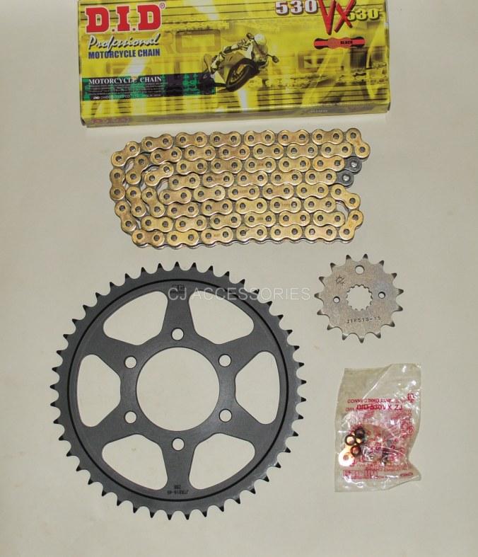 DID Gold X-Ring Chain & JT Black Sprocket Kit For Suzuki GSF1200 Bandit 96-05