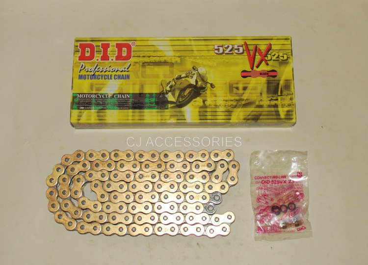 Honda CB500 1994-2003 DID Gold 525-108 VX X-Ring Chain Ideal For Race & Track Bikes