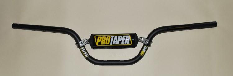 "Honda MSX125 Grom Pro Taper Handlebar Handle Bars Black 7/8"" Inc Brace & Pad"