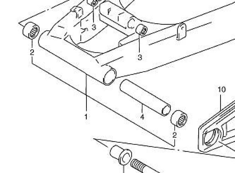 Suzuki GSF600 GSF1200 Bandit Swing Arm Needle Pivot Bearings SV650 RF600 RF900