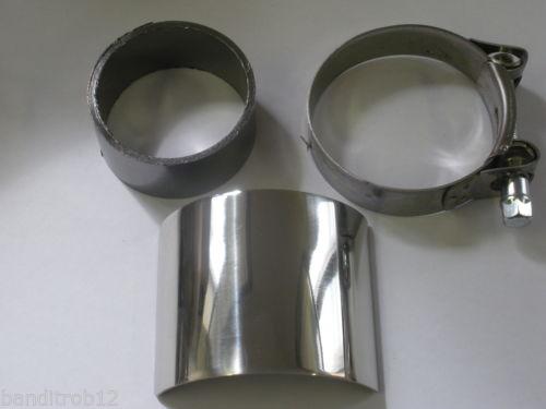 Exhaust Heatshield & Clamp & Collector Box Gasket Seal