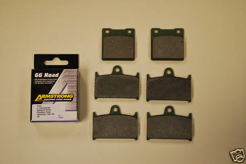 Full Set Armstrong GG Brake Pads For Suzuki GSXR750 1100 RF900