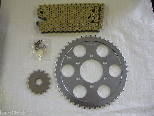 JT Gold X-Ring Chain And Sprockets For Suzuki GSF600 Bandit 95-99