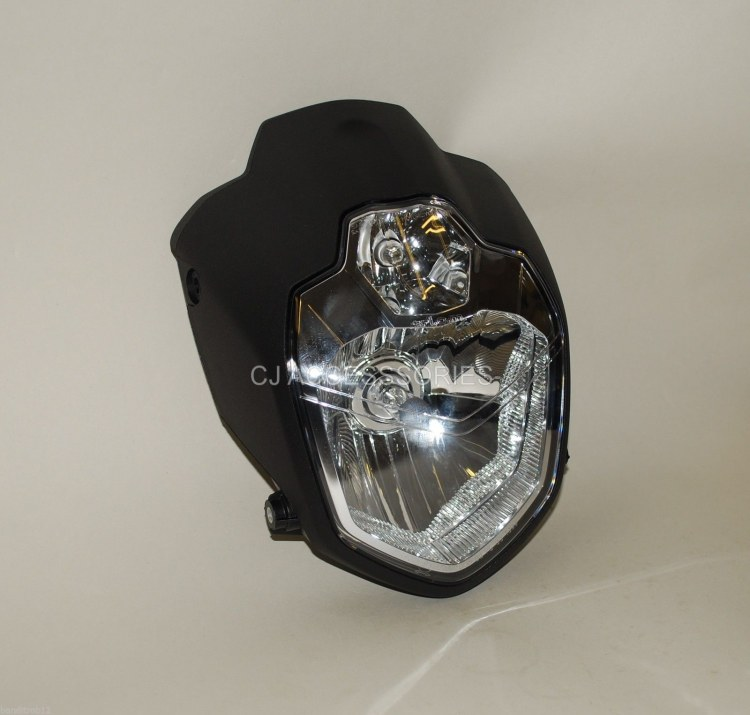 MT-03 Style Motorcycle H4 Headlight E-Marked