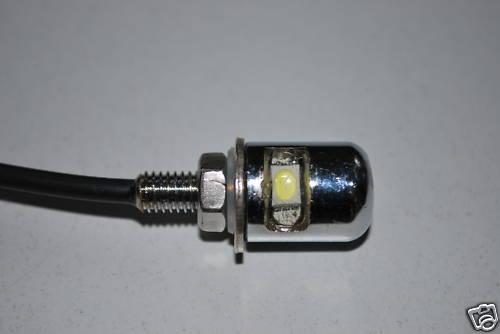 Chrome LED Number Plate Light Bolt