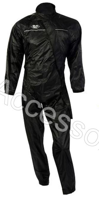 Oxford Rainseal All Weather Black Motorcycle Oversuit Waterproof