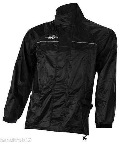 Oxford Rainseal All Weather Black Motorcycle Over Jacket Waterproof