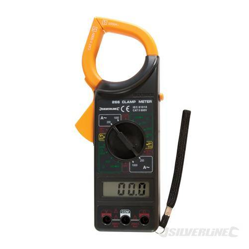 Clamp Meter Accessories : Silverline digital clamp meter multimeter test