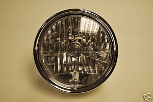 Deluxe Chrome 7&quot; Headlight Headlamp Unit - E Marked