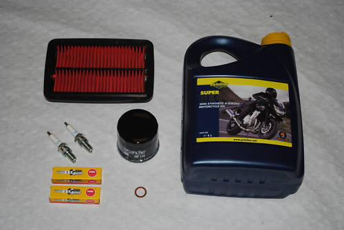 Service Kit Suzuki GSF600 Bandit - Oil Spark Plugs Air Filter &amp; Oil Filter 