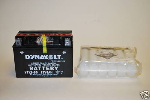 YTX9-BS Dynavolt Battery Bandit ZX-9R CBR ZX-6R GSXR RF 