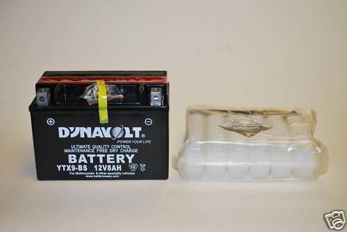 YTX9-BS Dynavolt Battery Bandit ZX-9R CBR ZX-6R GSXR RF