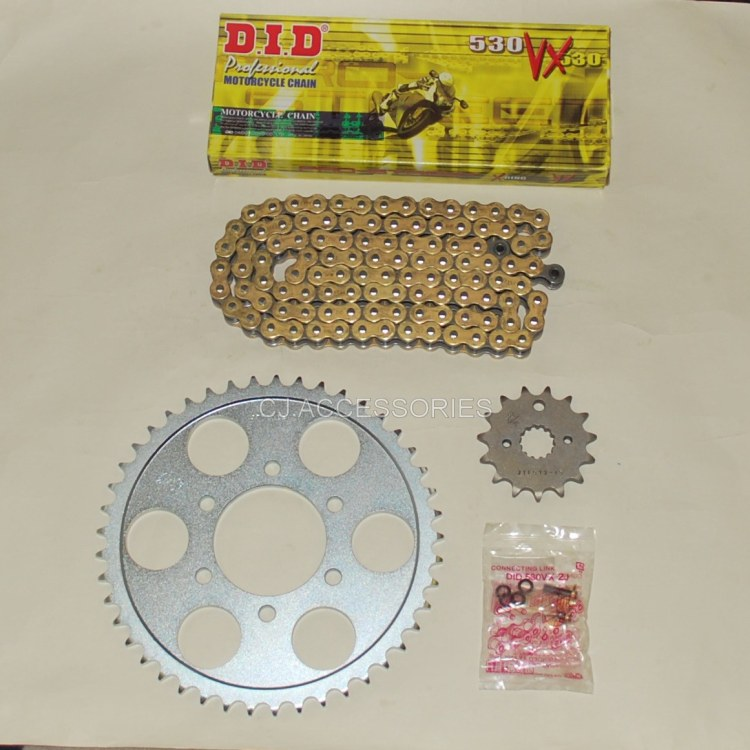 DID Gold X-Ring Chain And JT Sprockets For Suzuki GSF1200 Bandit 96-05