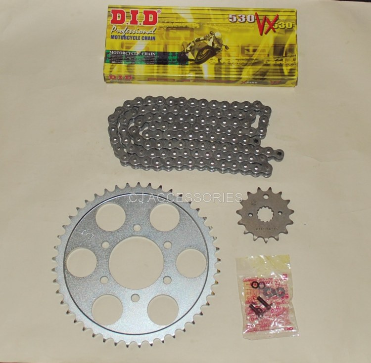 DID Grey X-Ring Chain And JT Sprockets For Suzuki GSF1200 Bandit 96-05
