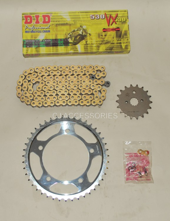 DID Gold X-Ring Chain And JT Sprockets For Suzuki GSF1250 Bandit 07-09