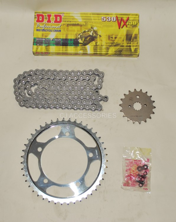 DID Grey X-Ring Chain And JT Sprockets For Suzuki GSF1250 Bandit 07-09