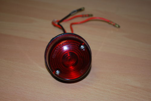 1 x Universal Round Rear Light &amp; Brake Light