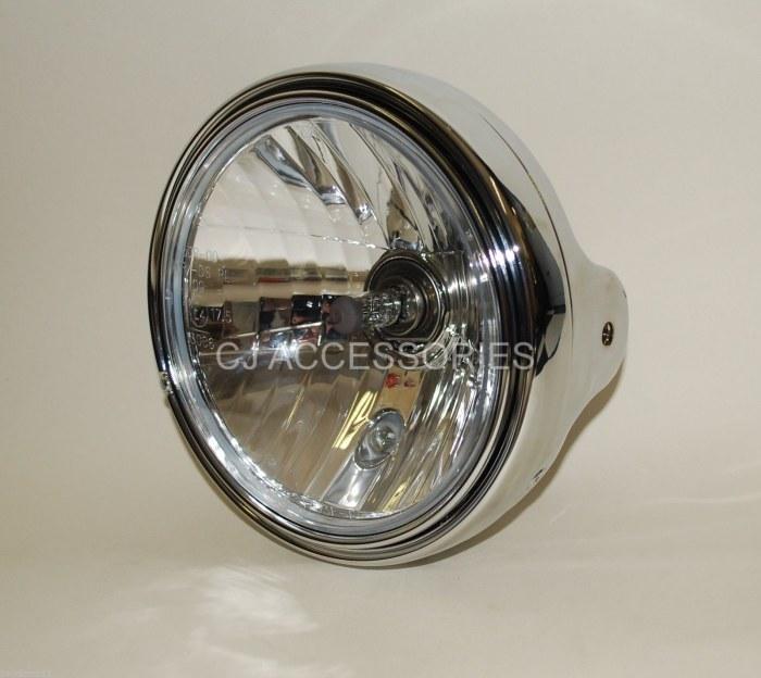 "Metal Chrome Universal 7"" Round Headlight  ideal for Bandit 223-127"