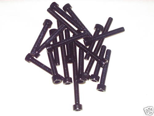 Pack of 6 M6 Anodised Aluminium Bolts