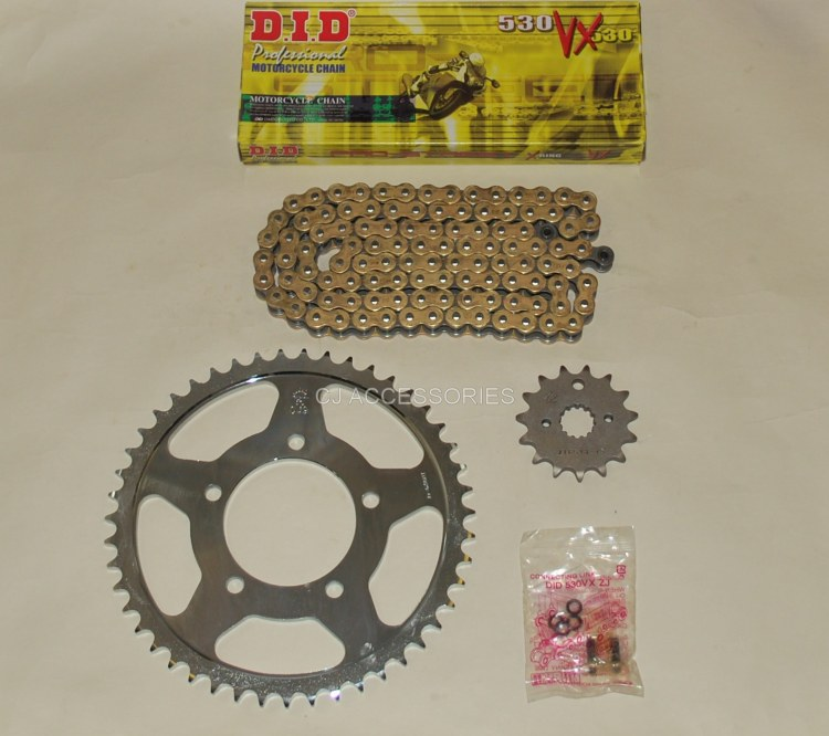 DID Gold X-Ring Chain And JT Sprockets For Suzuki GSF600 Bandit 95-99 MK1