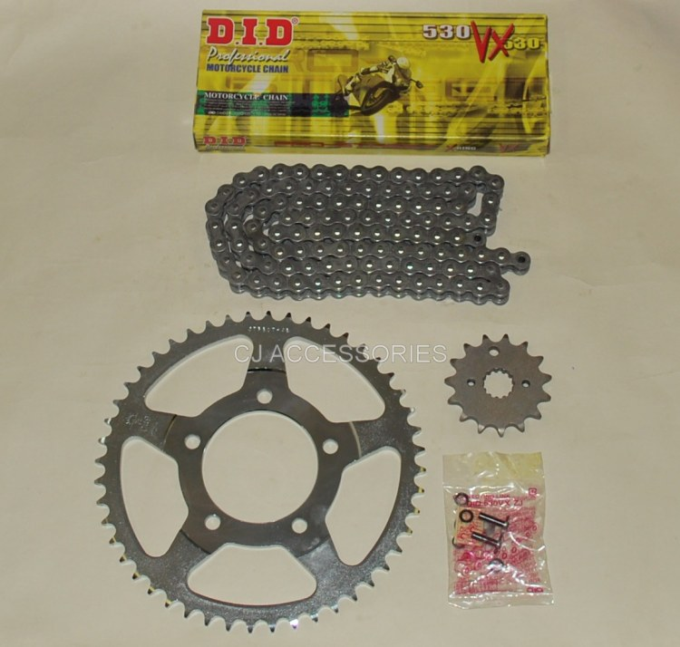 DID Grey X-Ring Chain And JT Sprockets For Suzuki GSF600 Bandit 95-99 MK1