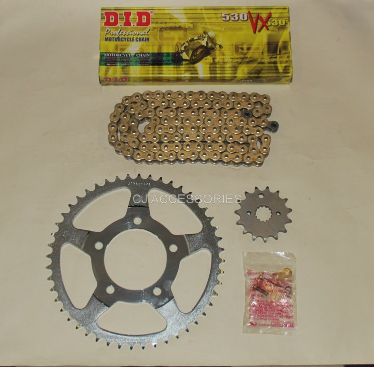 DID Gold X-Ring Chain And JT Sprockets For Suzuki GSF650 Bandit 07-11 & GSX650 F 08-14