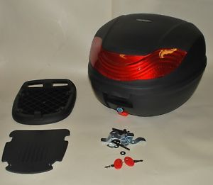 Universal Motorcycle Scooter 32L Removeable Top Box With Base Plate