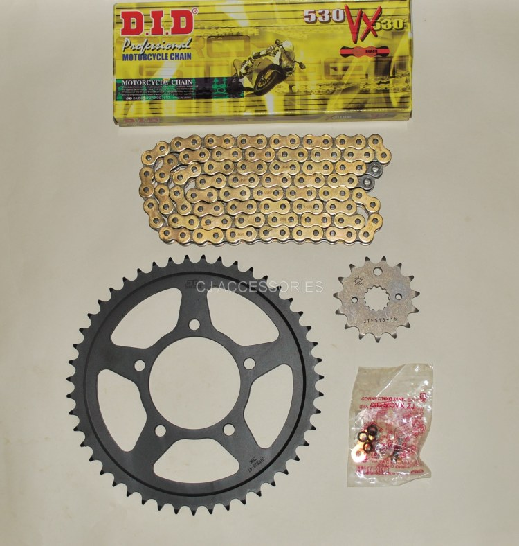 DID Gold X-Ring Chain & JT Black Sprocket Kit For Suzuki GSF600 00-04 MK2 GSF650 05-06 Bandit