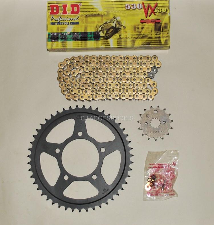 DID Gold X-Ring Chain & JT Black Sprocket Kit For Suzuki GSF600 00-04 MK2 GSF650 05-06 Bandit