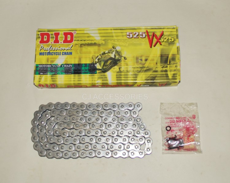 Honda CB500 1994-2003 DID Grey 525-108 VX X-Ring Chain Ideal For Race & Track Bikes