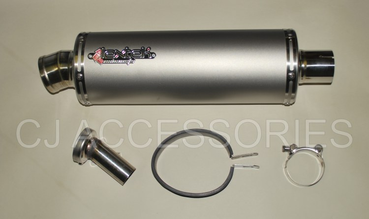 LEXTEK OP1 Matt Stainless Steel Road Legal 51mm Slip On End Can Exhaust Silencer