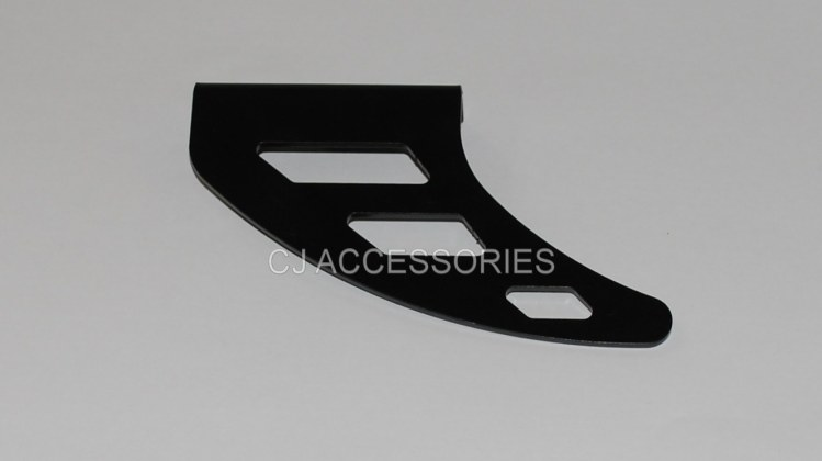 Black Aluminium Shark Fin Chain Toe Guard For Road Race & Track Bike