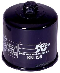 K&N Oil Filter Chrome or Black Suzuki Bandit GSF600 GSF1200 GSF1250 GSX1400 GSXR SV650