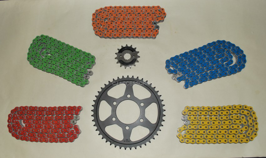 RK Coloured X-Ring Chain & JT Black Sprocket Kit Suzuki GSF1200 Bandit 96-04 RED, BLUE, GREEN, ORANGE & YELLOW Available