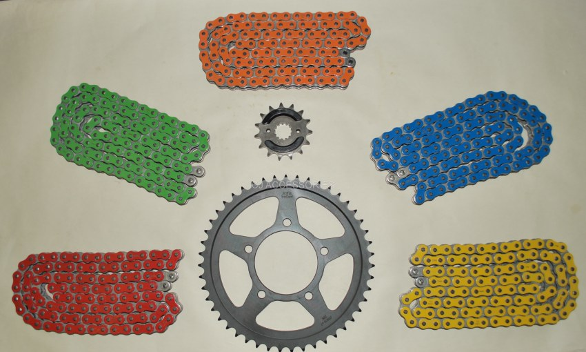 RK Coloured X-Ring Chain & JT Black Sprocket Kit Suzuki GSF600 Bandit 95-99 RED, BLUE, GREEN, ORANGE & YELLOW Available