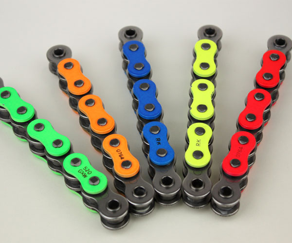 Honda CB500 1994-2003 RK Coloured Chian 525-108 X-Ring Chain Ideal For Race & Track Bikes Red Blue Green Yellow Orange