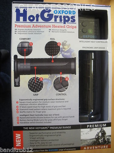 Oxford Hot Grips - Premium Adventure Heated Hotgrips *NEW 2012 IMPROVED VERSION*