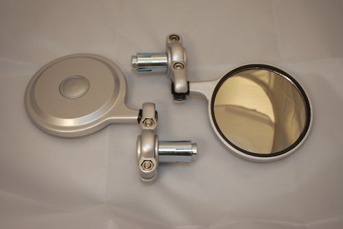 Pair of Mini Bar End Mirrors Black or Silver