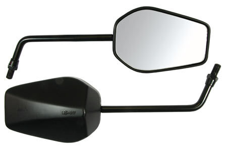 Black Universal Mirrors - 10mm Fitting