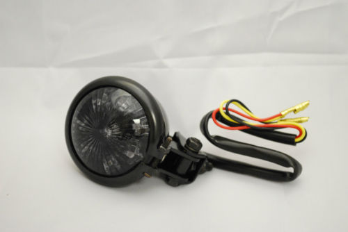 Mini Black Eye LED Rear Light - Steel Body - Cafe Racer