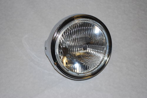 "Metal Chrome Universal 7"" Round Headlight"