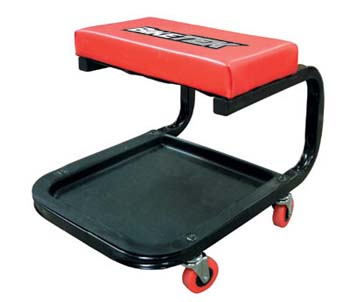 Garage Creeper Seat Stool - Padded Square Seat