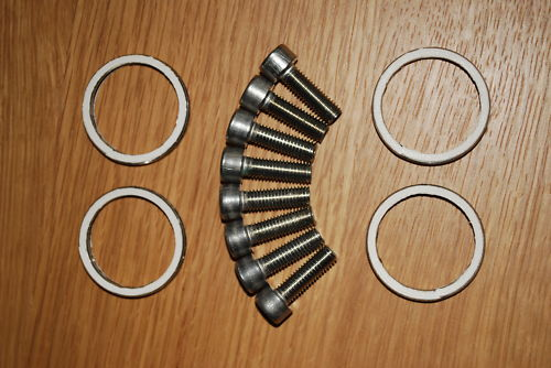 Stainless Exhaust Header Bolts & Gaskets for Suzuki Bandit and GSXR